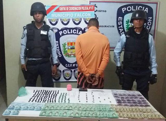 """""""El Loquillo"""" capturado con 206 envoltorios de marihuana"""