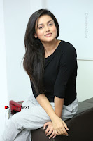 Telugu Actress Mishti Chakraborty Latest Pos in Black Top at Smile Pictures Production No 1 Movie Opening  0130.JPG
