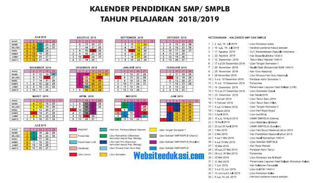 Kalender Pendidikan DI Yogyakarta Tahun Pelajaran 2018/2019