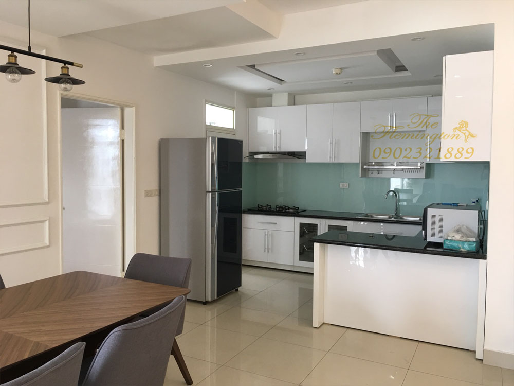 Căn hộ The Flemington cho thuê 117m2 nội thất đẹp tầng 9 block B - view khu bếp