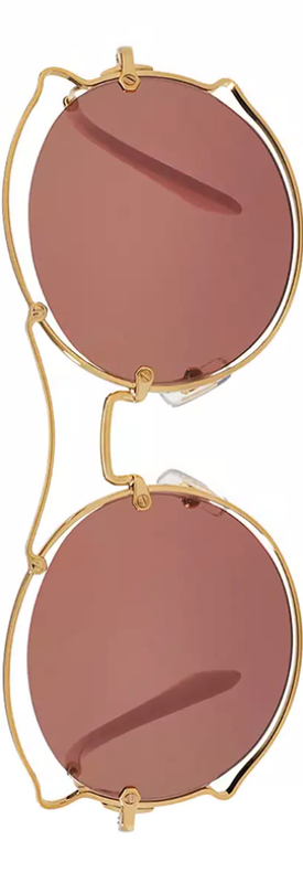 Miu Miu Waved Monochromatic Open-Inset Sunglasses
