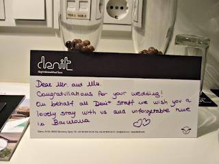 Note from Hotel Denit in Barcelona