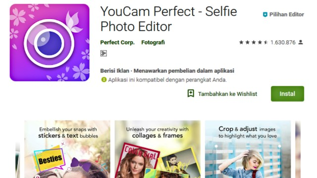 YouCam Perfect Aplikasi Edit Foto Android