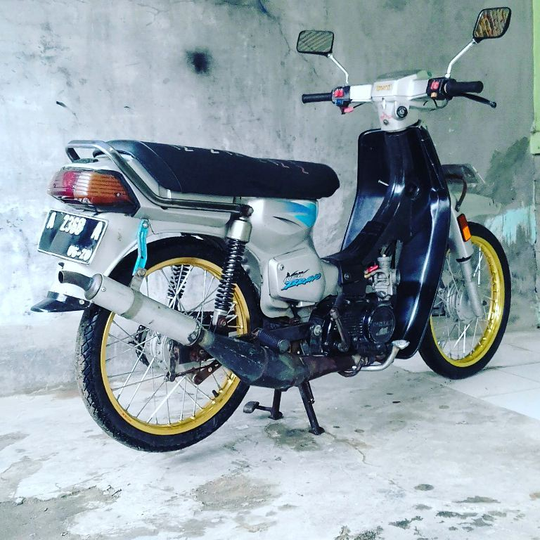 Modifikasi Suzuki RC 100 Bravo, Bebek Kencang Zaman Doeloe