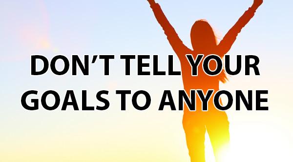 الحديث عن أهدافِك