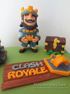 rei Clash Royale bolo aniversário