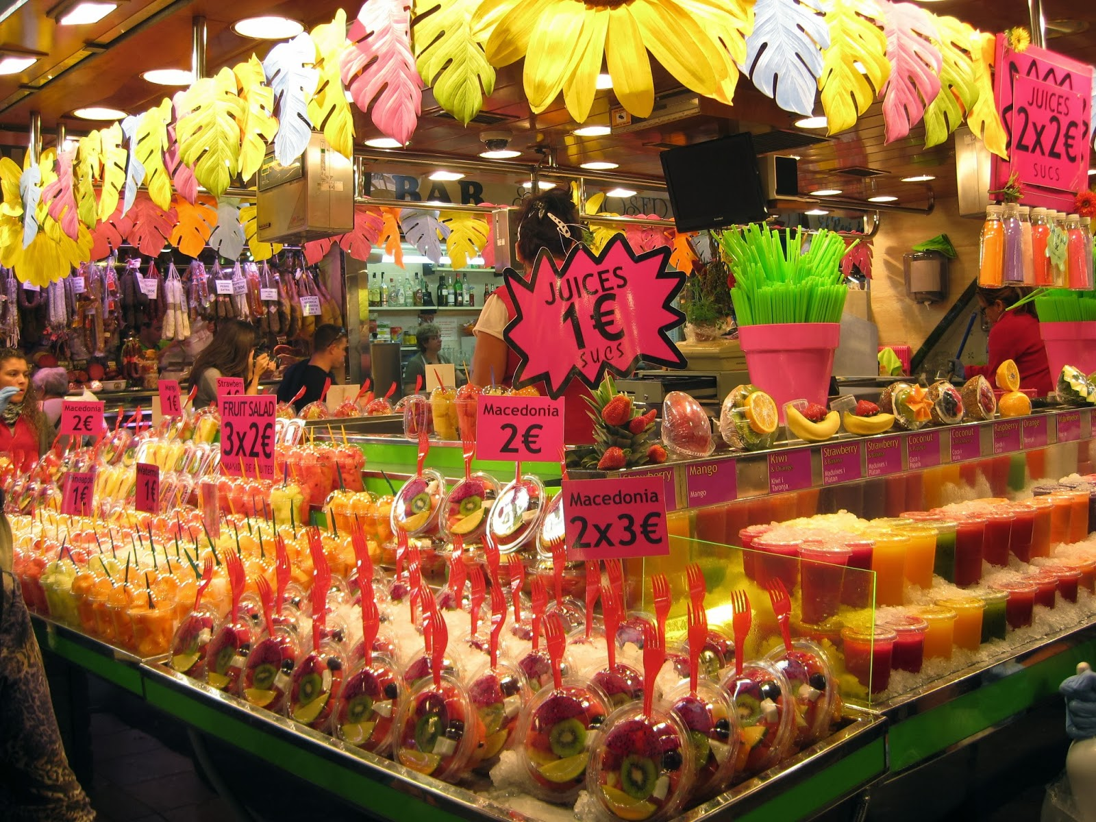 Barcelona - one of the many fruit stands in La Boqueria market