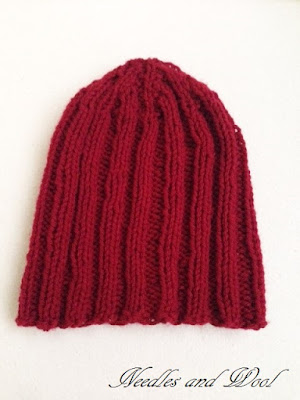 Ribbed Knit Hat Pattern On Circular Needles : Needles and Wool: One Knitted Ribbed Hat