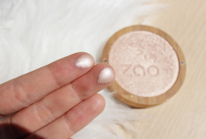 ZAO makeup highlighter swatch