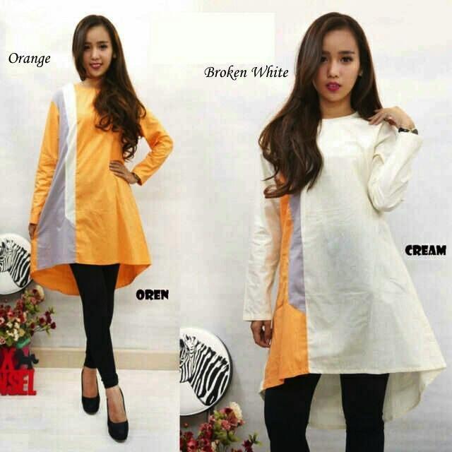 Jual Tunik Three Color Tunik Dress - 12920