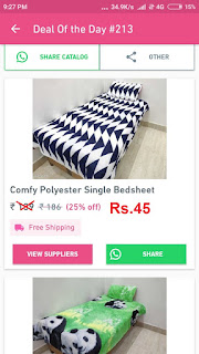 Single Bed-sheets at Rs.45