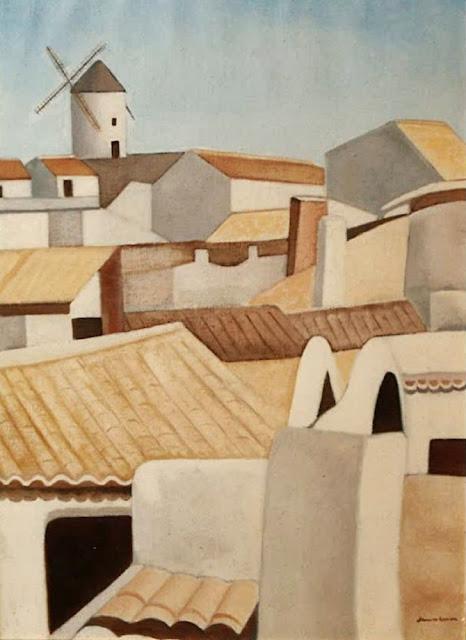Juan Navarro Ramón paisaje mediterraneo criptana pintura posguerra