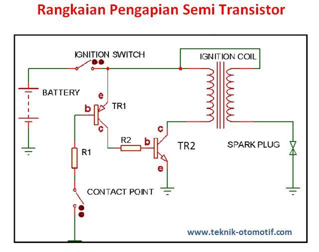 Sistem Pengapian Transistor Dengan Menggunakan Kontak Pemutus Atau Semi Transistor