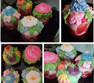 Bahan Cup Cake Flower