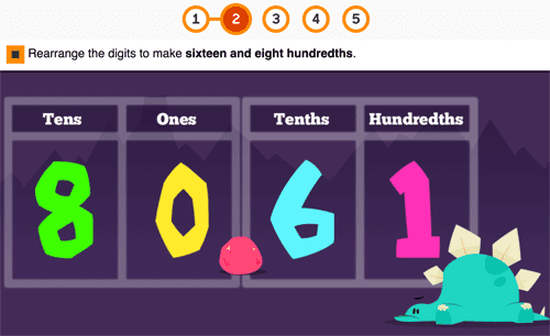 Games on rearranging the comma to make the decimals