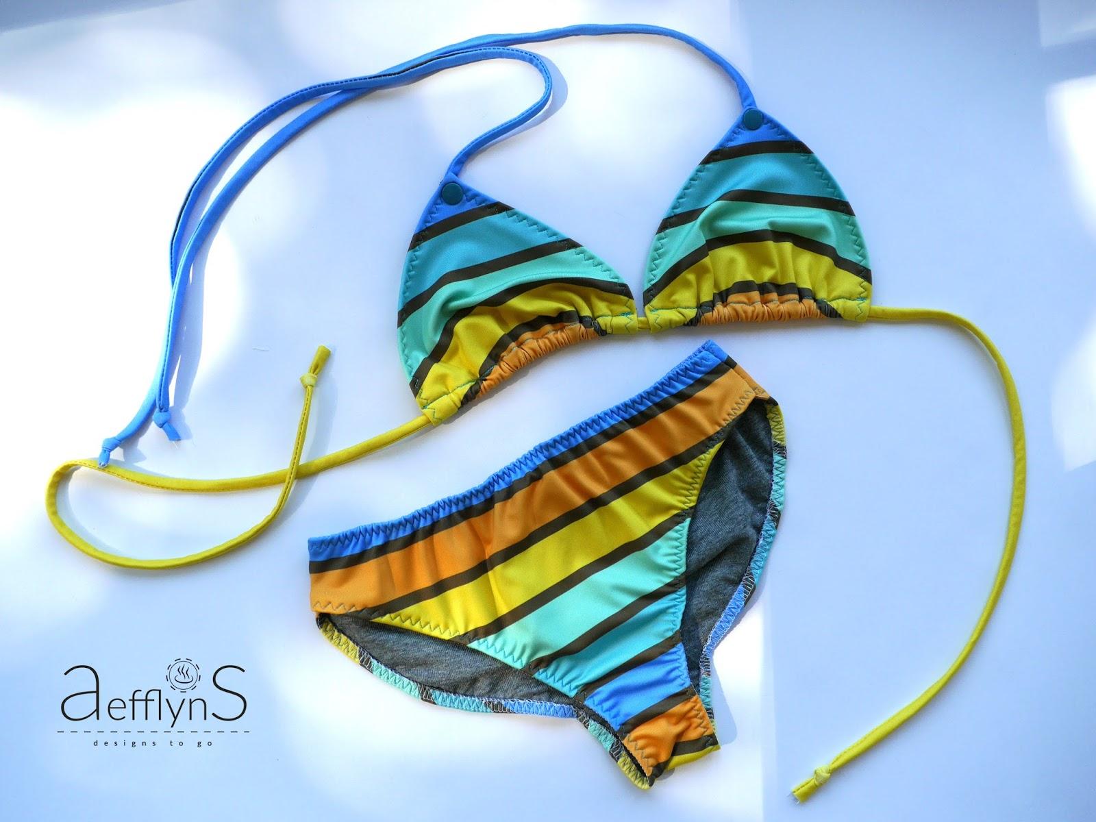 aefflynS - to go: Bikini DIY - nähen mit Lycra