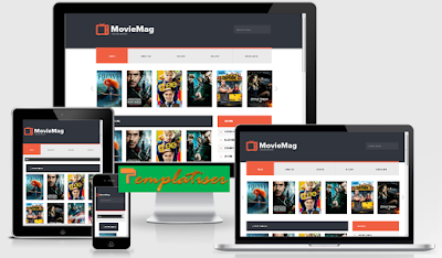 Screenshot Template Blogger MovieMag - Templatiser