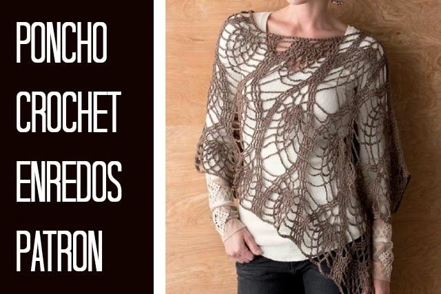 Poncho Enredos de Crochet Patron