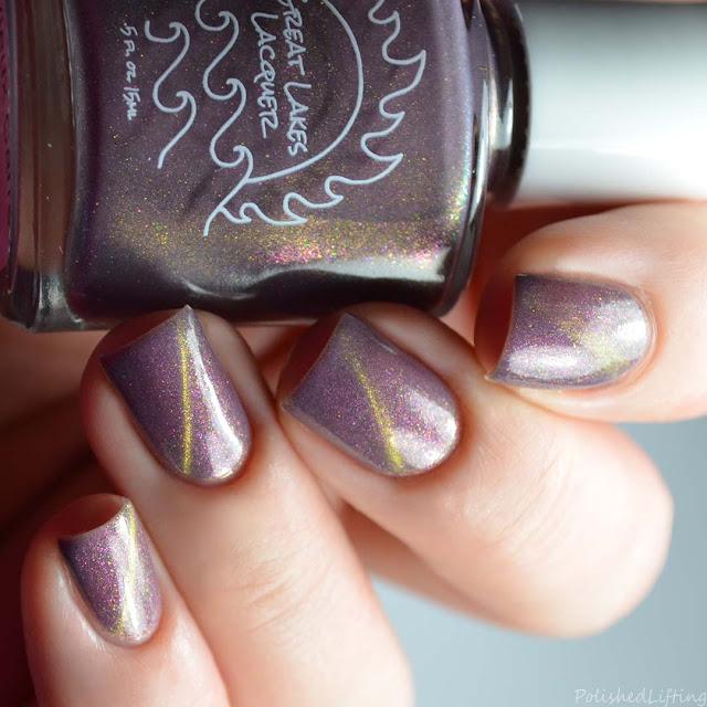 plum magnetic nail polish