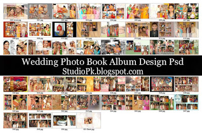 Wedding Photo Book Album Design Psd
