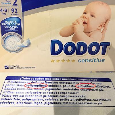 blog mimuselina elementos tóxicos que no debe llevar un pañal dodot sensitive