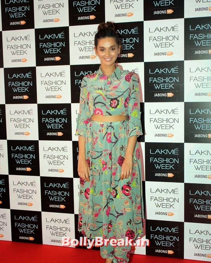 , Shriya, Deeksha, Kiara Sizzles in Hot Dresses at LFW 2014 Curtain Raiser