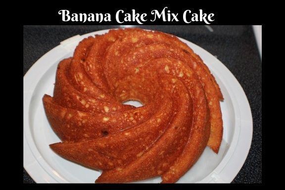 this is how to make a banana cake from a yellow cake mix