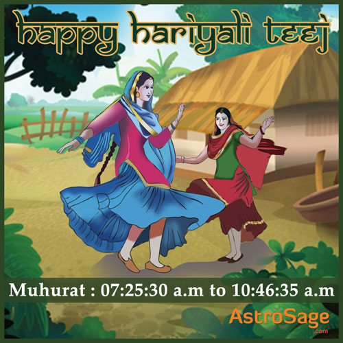 Hariyali Teej in 2016 is on August 5