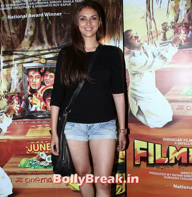 Aditi Rao Hydari, Aditi Rao, Shilpa, Tisca at Filmistaan Movie Special Screening at Lightbox