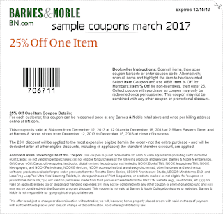 free Barnes and Noble coupons march 2017