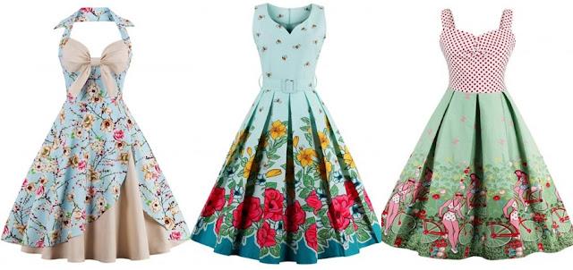 rosegal, wishlist, sukienka, retro, moda, współpraca