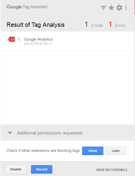 Error in Analytics Code installation how to setup google analytics for a blog