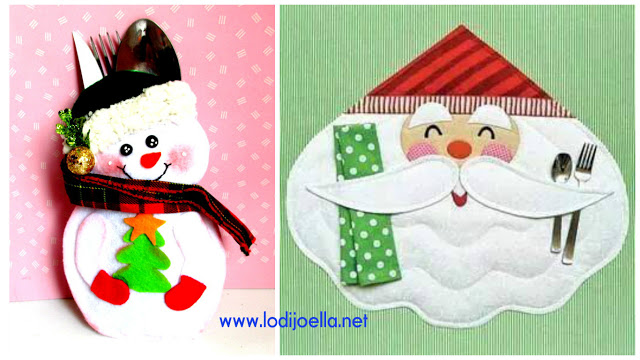 porta-cubiertos-navideño-fieltro