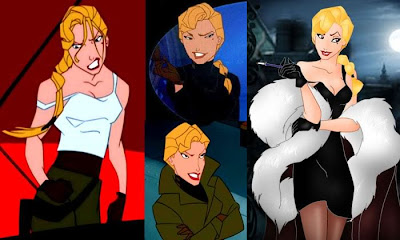 "Three views of Helga ""Atlantis: The Lost Empire"" 2001 animatedfilmreviews.blogspot.com"