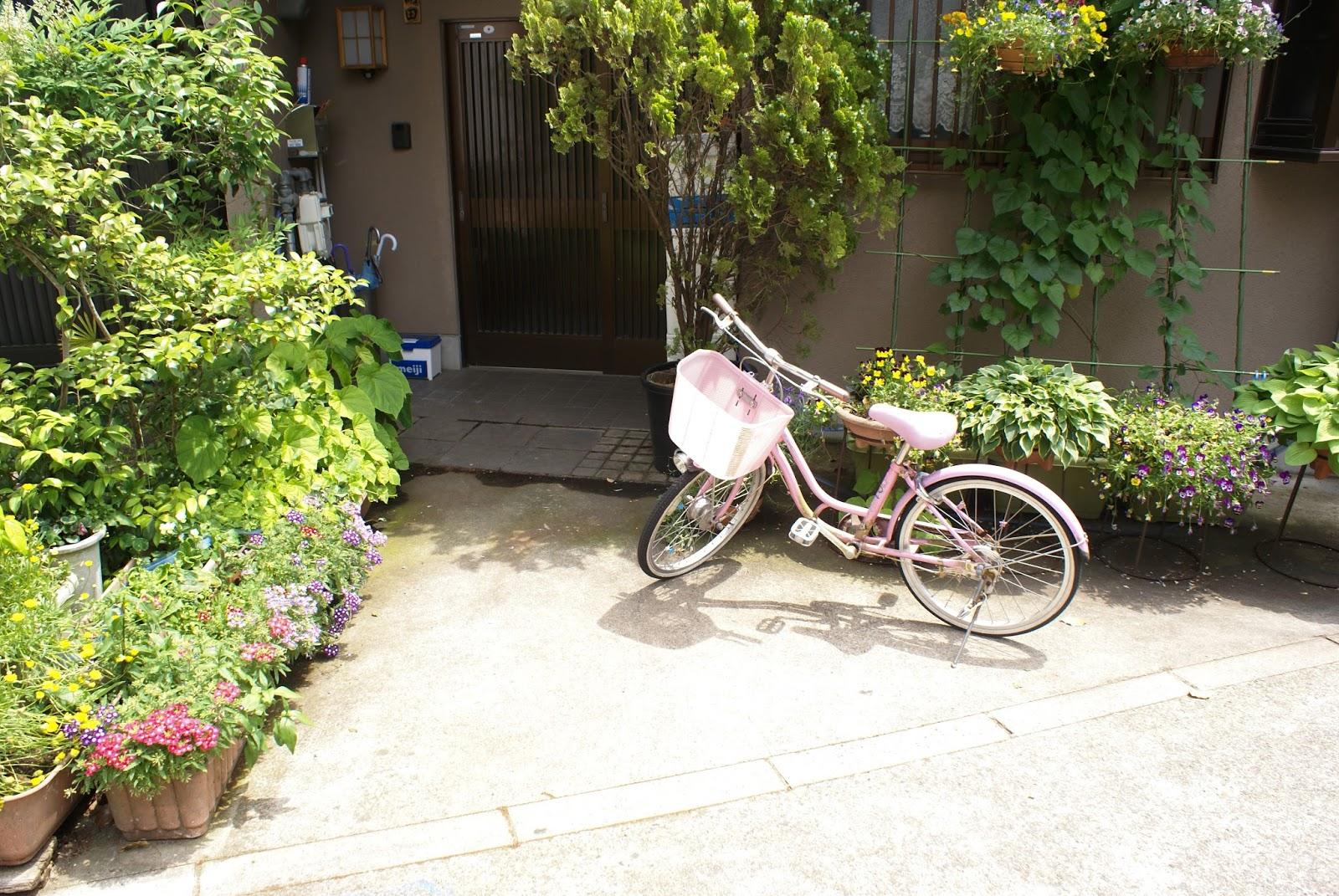 japon maison vélo printemps