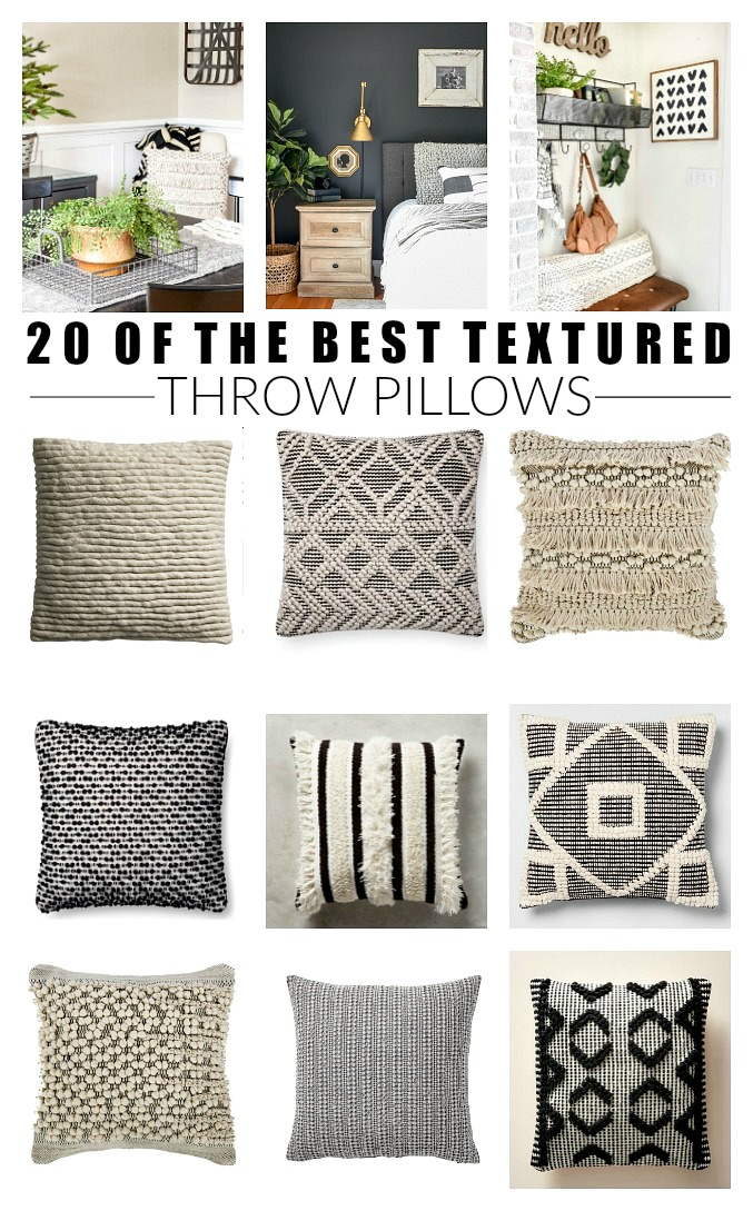 20 of the best textured throw pillows