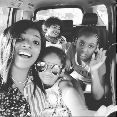 Annie Idibia shares lovely pic with mum and kids