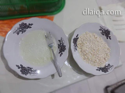 putih telur dan tepung bumbu