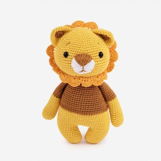 Amigurumi de Crochê Leão (Médio) | Amigurumi de croche, Urso de ... | 564x564