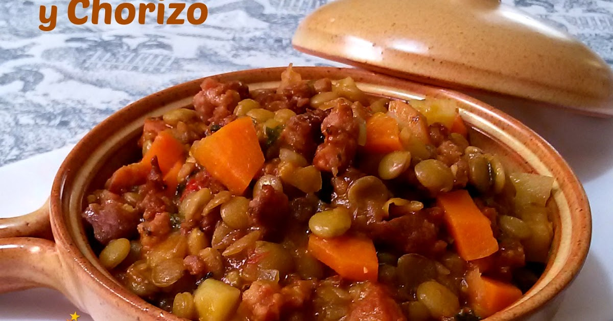 Recetas para dos lentejas con verduras y chorizo for Cocinar lentejas con verduras