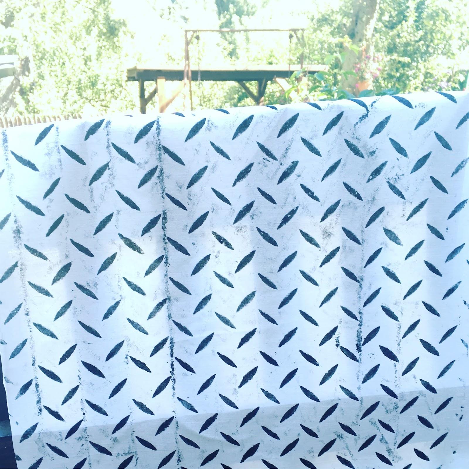 Tisk na textil z kovových poklopů na ulici