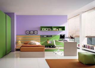 Quiet Modern Green Bedroom