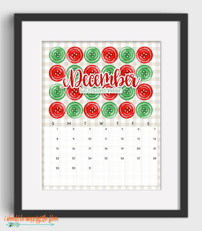 December Sewing Calendar