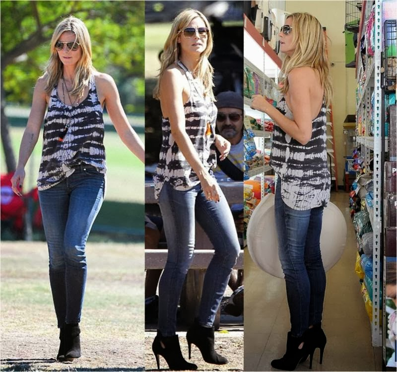 581a549d1e7cf Heidi Klum In Denim Jeans October 2013