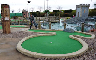 Adventure Golf Island at Fife Leisure Park in Dunfermline, Scotland