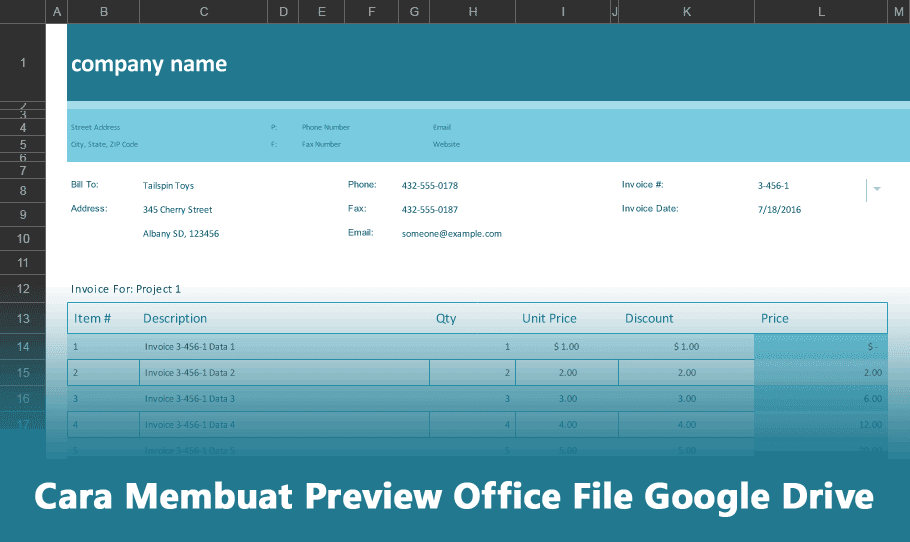 Cara Membuat Preview Office File Google Drive