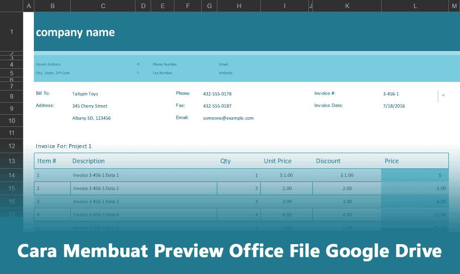 Cara Membuat Preview Office File Google Drive