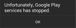 Layanan Google Play Telah Terhenti