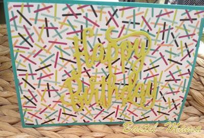 Papier und Stanze von SU, Happy Birthday