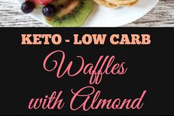 Keto Low Carb Waffles #ketowaffles #lowcarb #healthybreakfast #easybreakfast #lowcarbbreakfast #ketobreakfast #breakfast #waffles